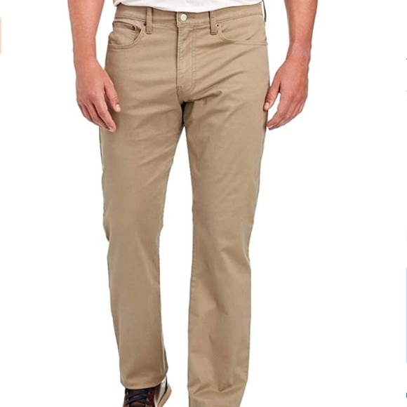 NEW Lucky Brand 410 Athletic Slim Deer Khaki Pants
